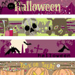 Halloween banners - Image vectorielle