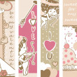 Valentine`s day banners — Stockvectorbeeld