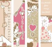 Valentine`s day banners — 图库矢量图片
