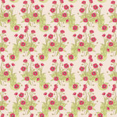 Wild poppy pattern — Vector de stock