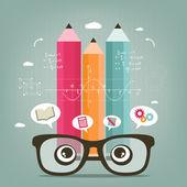 Lernen und berechnen — Stockvektor