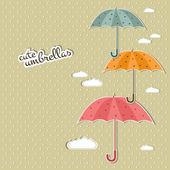 Ombrelli carini — Vettoriale Stock