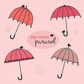 Sweet parasols — Stock Vector
