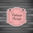 Vintage frame on wooden background — Stock Vector