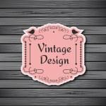 Vintage frame on wooden background — Stock Vector