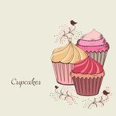 Cupcake design — Stockvektor