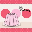 Retro pudding card — Stock Vector