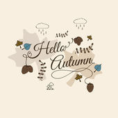 Hello autumn — Stockvektor