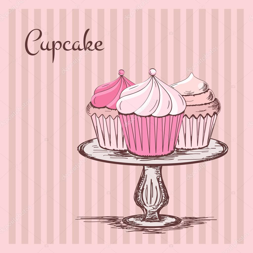Cake And Cupcake Silver And Red
