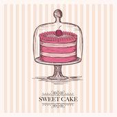 甘いケーキ — ストックベクタ