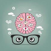 Pensieri creativi — Vettoriale Stock