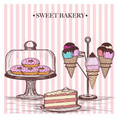 Sweet bakery — Stock Vector