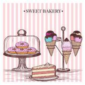 甜面包店 — 图库矢量图片