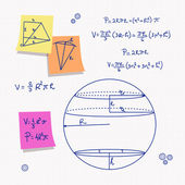 Geometry and math — Vector de stock