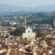 Florence with The Basilica di Santa Croce — Stock Photo