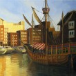 St. Katharine Docks in London — Stock Photo