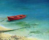 Fishing boat in island Corfu — Stock Photo
