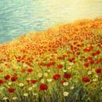 Постер, плакат: Poppies at the Seashore