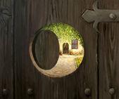 Ao lado do porta — Fotografia Stock