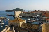 Dubrovnik oude stad haven — Stockfoto