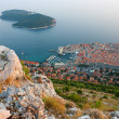 Stock Photo: Panoramic view of Old Town Dubrovnik and Island Lokrum