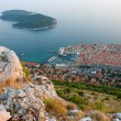 Panoramic view of the Old Town Dubrovnik and Island Lokrum — Stock Photo #13134648
