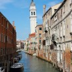 Venice San Giorgio dei Greci Belltower — Stock Photo