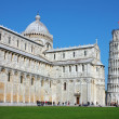 Piazza dei Miracoli with the Leaning Tower in Pisa — Stock Photo