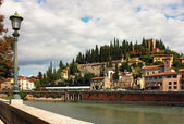 Verona, view toward Castel San Pietro — Stock Photo