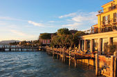 Jetty Port and Quay in Sirmione — Stock Photo