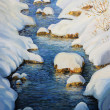 Snowy Fairytale River - Foto de Stock  