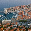 Old Harbor of Dubrovnik in Croatia - Stock Photo