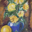 Stock Photo: Yellow Flowers Bouquet painting