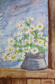 Bouquet of daisies painting — Stock Photo