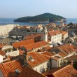 Dubrovnik Sunny Afternoon Panoramic View with The Harbor - Stock Photo