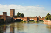 The Castelvecchio Bridge in Verona — ストック写真
