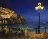Summer Evening in Amalfi — 图库照片