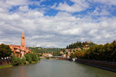 Verona Adige River view Toward Castel San Pietro — Stock Photo