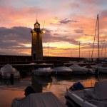 Desenzano del Garda Marina Old Lighthouse Sunrise — Stock Photo #23619843