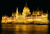 Budapest Parliament Night Shot — Stock Photo