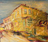 Old Bulgarian House in Golden Colors — ストック写真