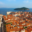 Dubrovnik Sunny Afternoon Panoramic View with The Harbor and old — Stock Photo