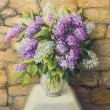 Still life with lilacs — Stock Photo