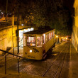 Stock Photo: Lisbon GloriFunicular Night Shot