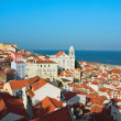 Stock Photo: View of Igrejde Santo Estevao in AlfamLisbon