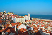 View of Igreja de Santo Estevao in Alfama Lisbon — Stock Photo