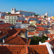 Alfama District in Lisbon with Monastery of Sao Vicente de Fora — Stock Photo #28573055