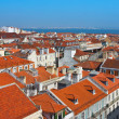 Baixa City Center of Lisbon Panoramic View — Stock Photo