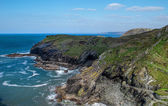 Rockfaces, Tintagel,Cornwall — Stock Photo