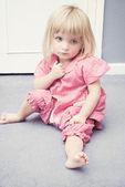Sad Baby Girl — Stockfoto